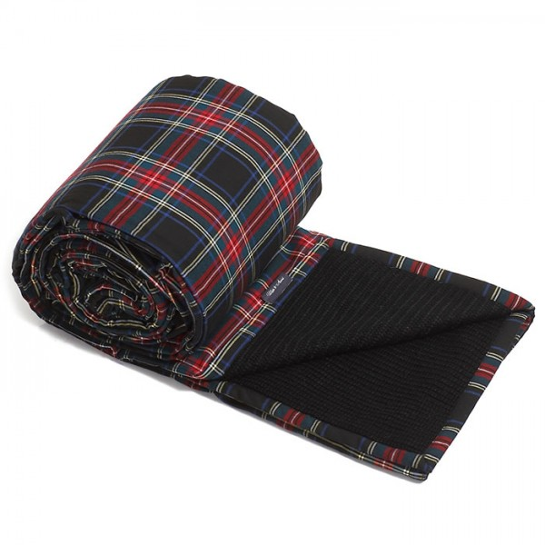 Philippe Armine Knitted Blanket Popcorn Black Check