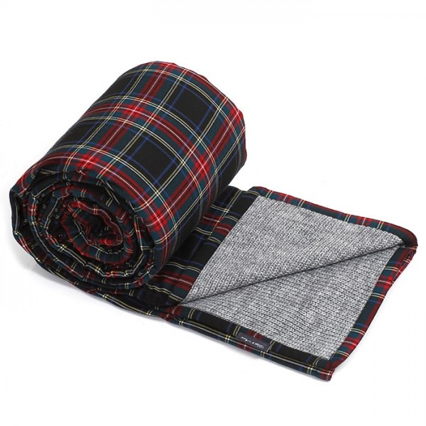 Philippe Armine Knitted Blanket Popcorn Iron Black Check
