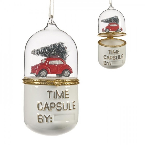 Car Scene Time Capsule Ornament