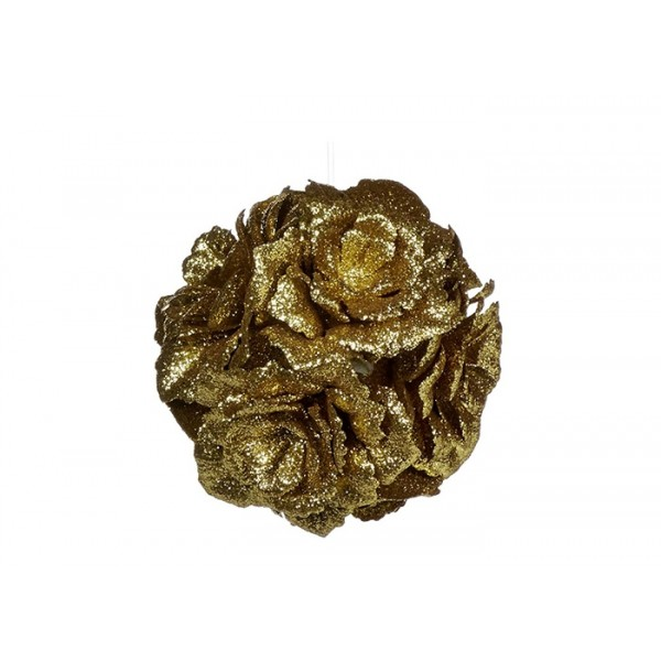 Golden Rose Ball Ornament