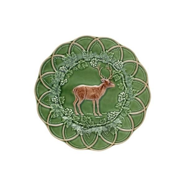 Snack Plate 24 Deer Green/Brown