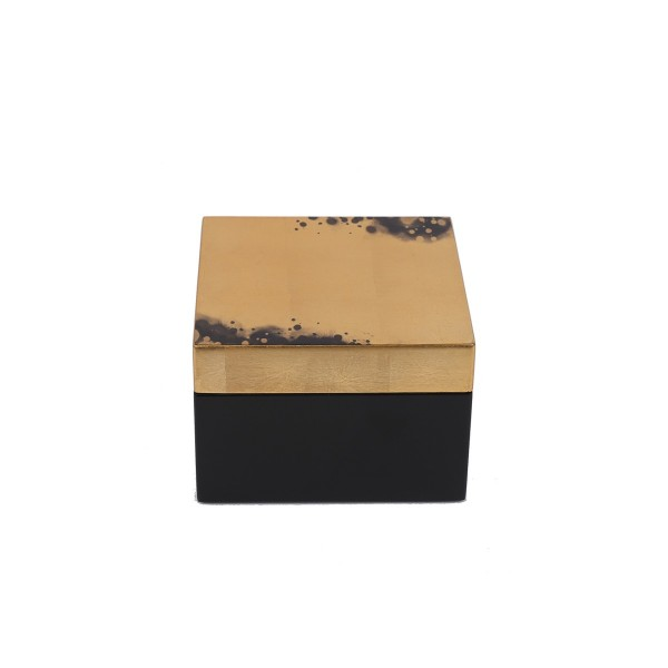 Square Box - Black/Gold - Small