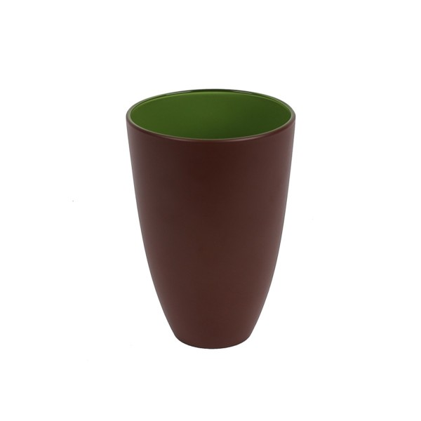 GLASS - GREEN/BROWN - LARGE