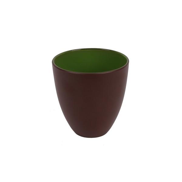 GLASS - GREEN/BROWN - MEDIUM