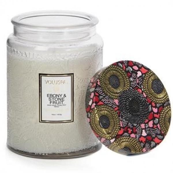 Voluspa - Ebony & Stonefruit, candle 16oz.