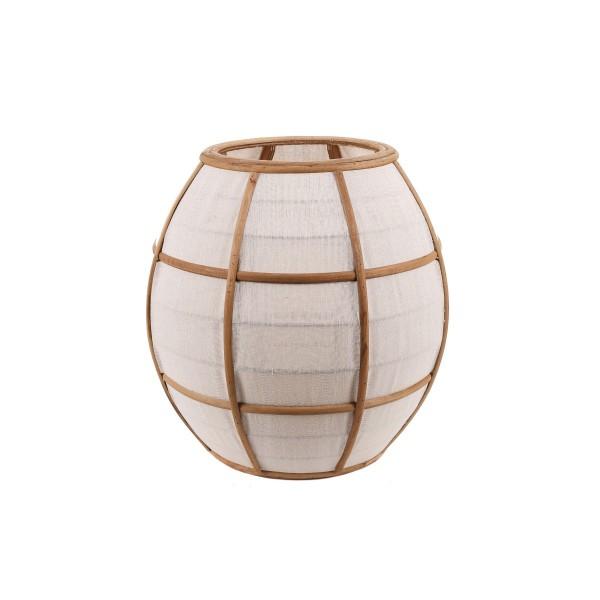 Japanese Lantern - Linen/Wood - Natural