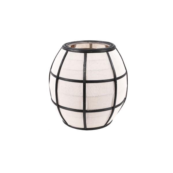 Japanese Lantern - Linen/Wood - Black