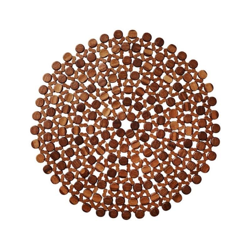 Kim Seybert Round Bamboo Placemat In Brown