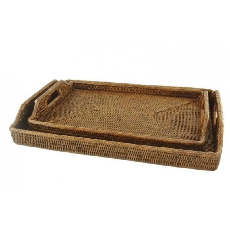 Rattan Morning Tray Large
