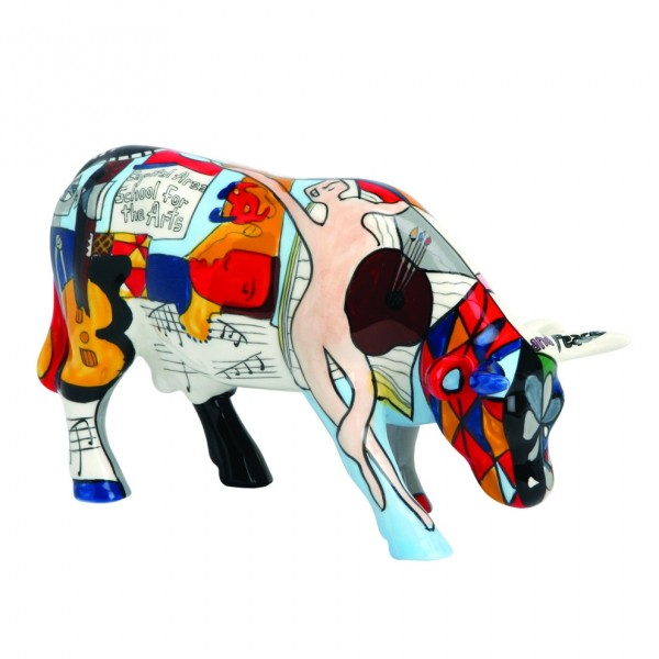 Cowparade Medium Picowso's  school for the Arts